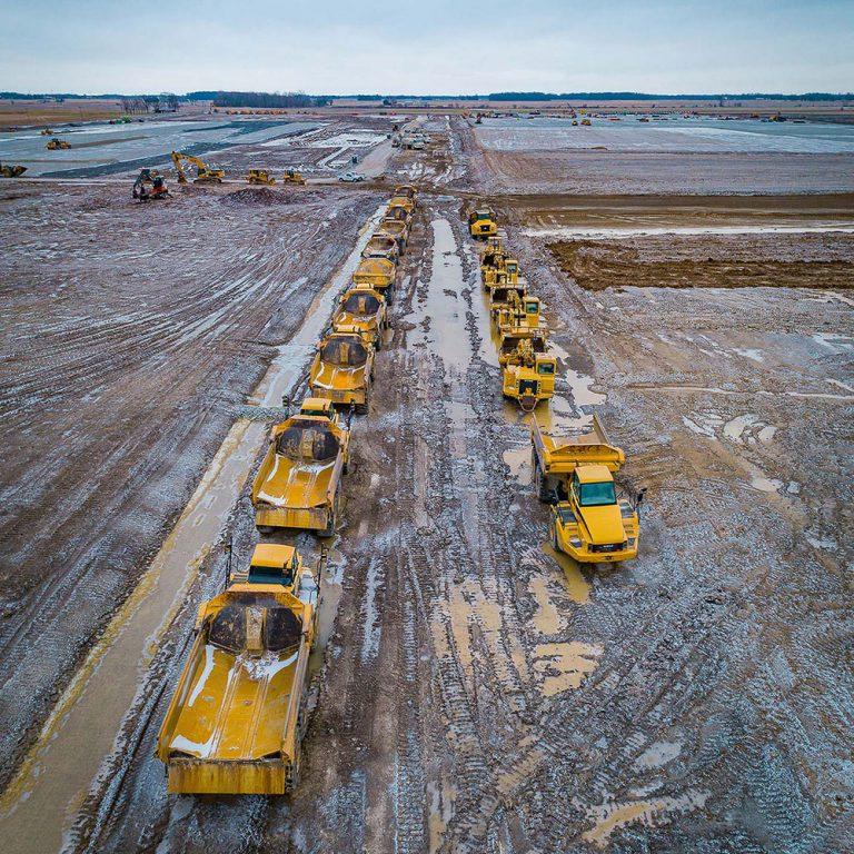 construction dump trucks