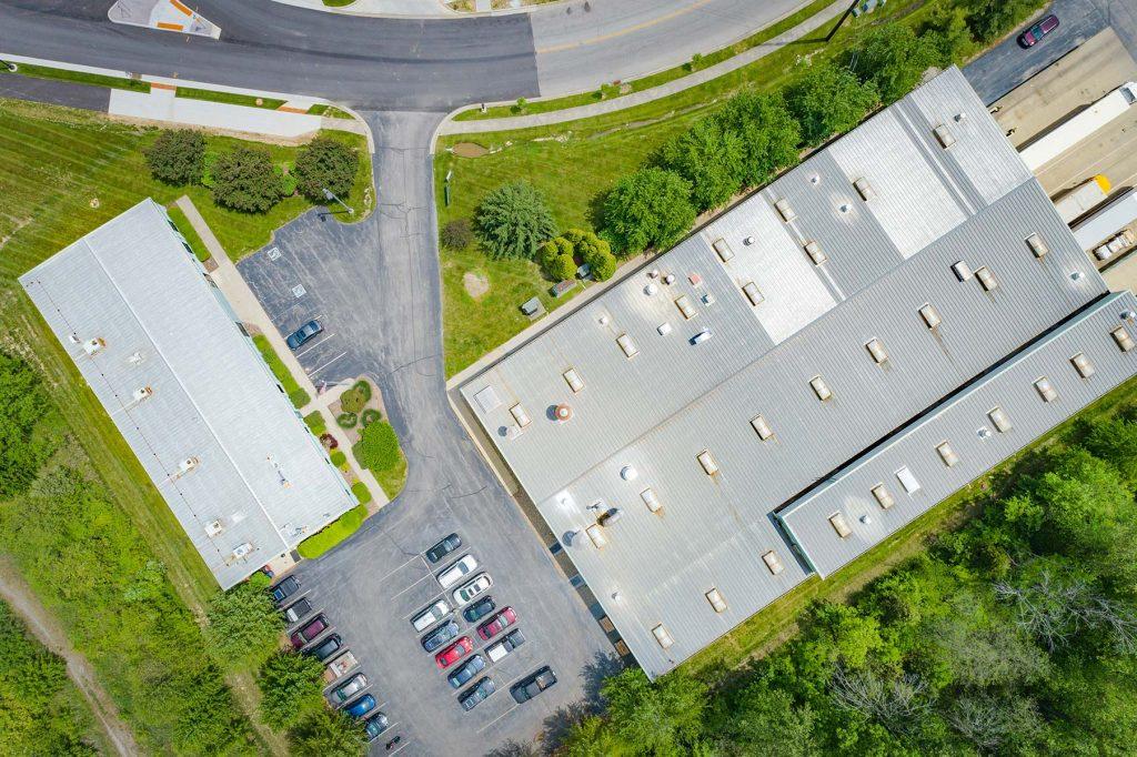 Bloomington aerial photo property overhead